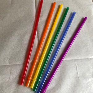 6pc Rainbow Venti Replacement Straws